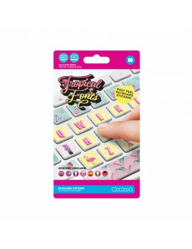 Sticker para teclado tropical