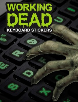 Sticker para teclado  working dead